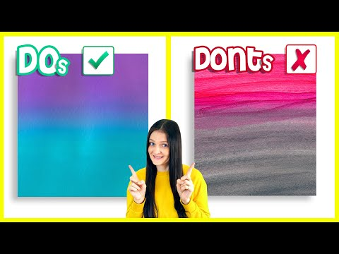 HOW TO BLEND ACRYLIC PAINT on Canvas for Beginners 🎨
