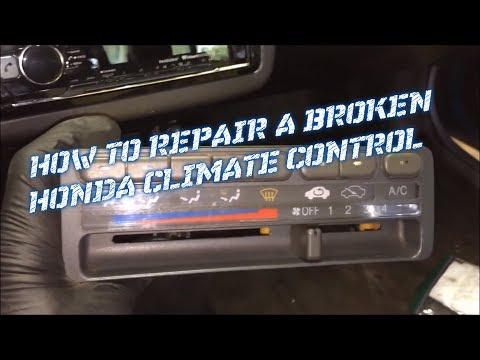 How To Replace A Broken Climate Control 1992 1995 Honda Civic