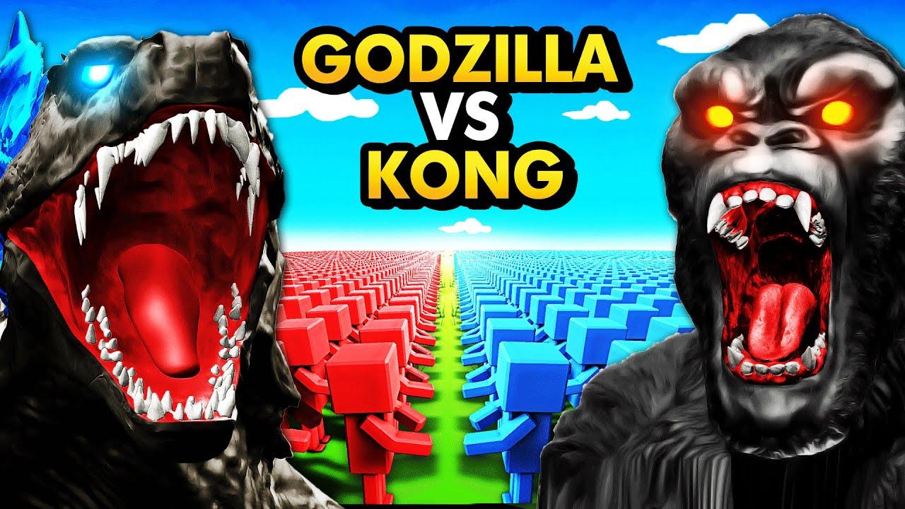 GODZILLA ARMY vs KING KONG ARMY