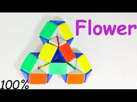 how to make a flower with a rubk snake