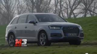 NEW AUDI Q7 E-TRON 2015 - FIRST TEST DRIVE ONLY SOUND