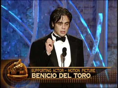 Savages Star Benicio Del Toro Wins Best Supporting Actor Motion Picture - Golden Globes 2001