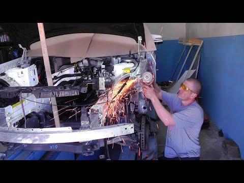 видео: Mercedes-Benz GLK. Рихтовка полки крыла.