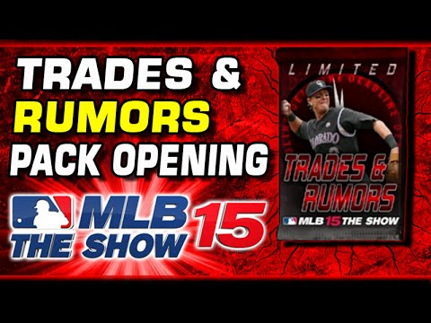 MLB 15 Trades & Rumors Pack Opening