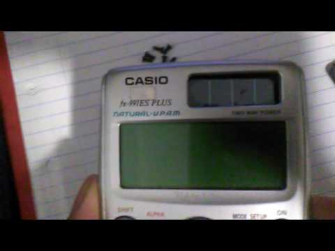 Casio Calculator isolated Solar Source