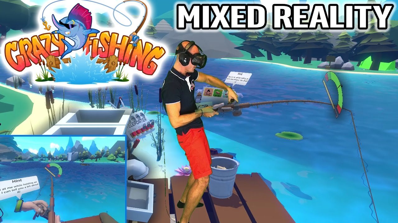 Crazy fishing vr in mixed reality on htc vive pre for Crazy fishing vr