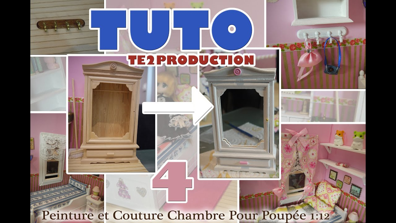 tutorial peinture et couture pour maison de poup e chelle 1 12 me partie 4 youtube. Black Bedroom Furniture Sets. Home Design Ideas