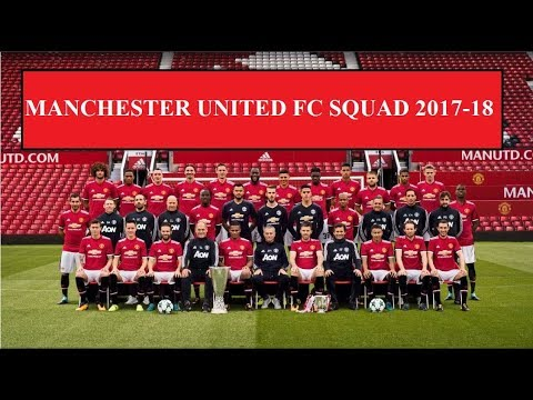 Manchester United Squad First Team 2017-18 ||HD|| (Official Kit Numbers)
