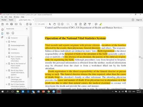 The national system vital stastic system chapter 17