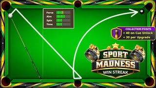 8 ball pool New Sport Madness 😍 Win Streak Free Ring And Cue