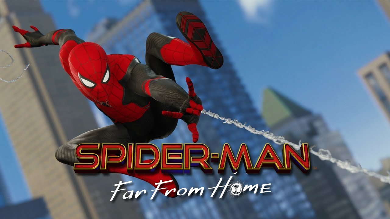 Spider-Man (PS4): Epic Web Slinging Video With New Far From Home Suits
