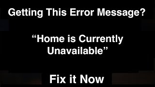 Home is currently Unavailable on Firestick  -  Fix it Now