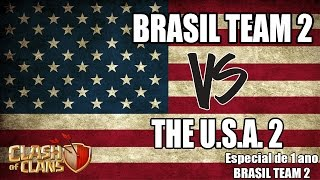 BRASIL TEAM 2 Vs U.S.A. 2 - Clash of Clans Oficial - Guerra BRASIL TEAM