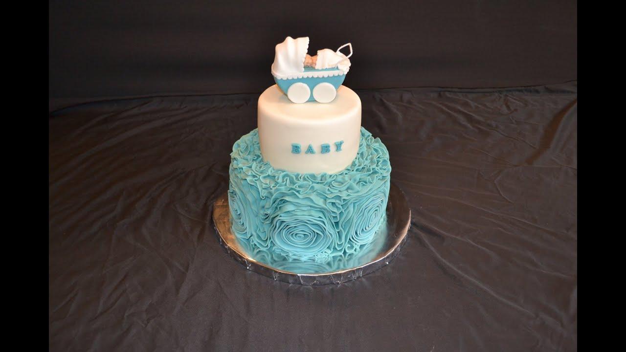 Decorate Cake With Fondant Rosets Ribbon Roses