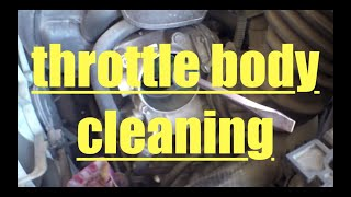 How to clean throttle body Toyota Matrix Corolla