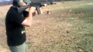 Shooting Beretta AR-70, properly.