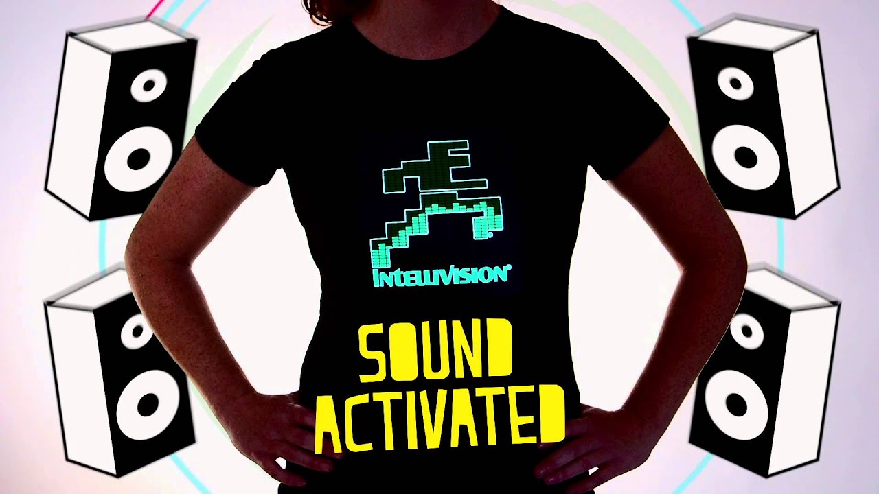 Custom Led Sound Activated Light Up T Shirts Flashion Statement