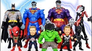 Power Rangers & Marvel Avengers Toys Pretend Play | Batman SuperHero Defeat Superman Villains Army