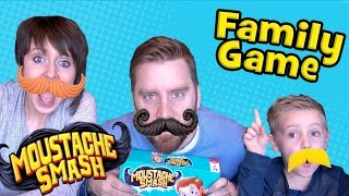 Mustache Smash Game | Kids & FAMILY GAME Time | Unboxing & Toy Review by KidCity