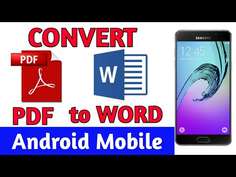How To Convert PDF to WORD in Android Mobile ! Hindi