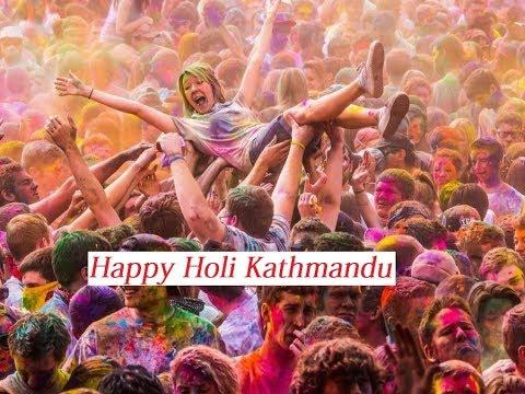 Happy Holi At Kathmandu Nepal 2018   DREAM NEPAL VLOG#1