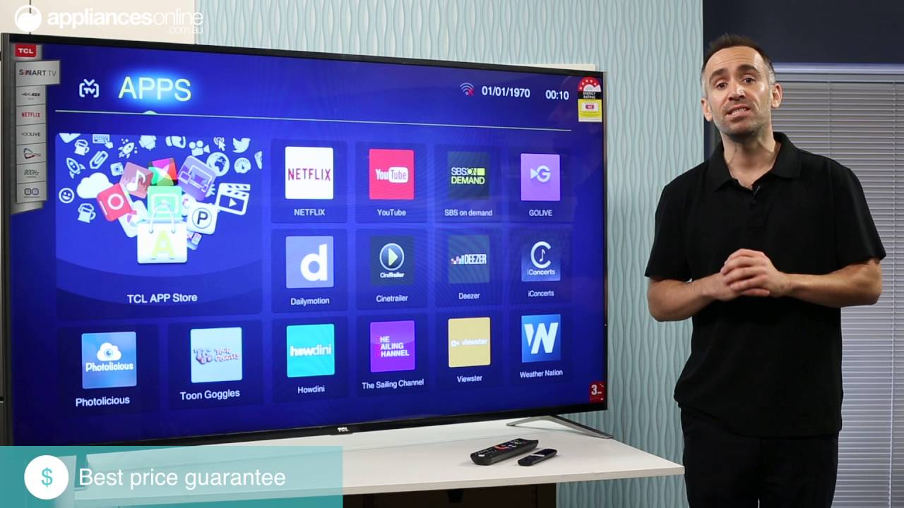 8cd4dabb0 TCL 65C1US 65 Inch 163.8cm UHD LED Smart TV Overview - Appliances Online -  YouTube