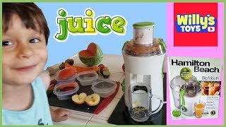Hamilton Beach Big Mouth Juice Extractor Juicer Review by 3 Year Old Kid - FUNNY - Willy