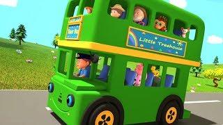 Колеса на автобусе | Детские стишки | Детские песни | Детский сад Мультфильмы | Wheels On the Bus