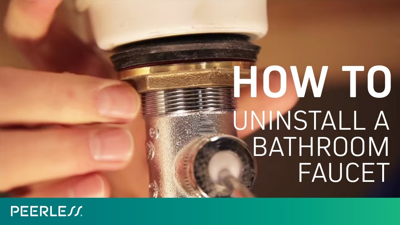 How to Remove a Bathroom Faucet   YouTube