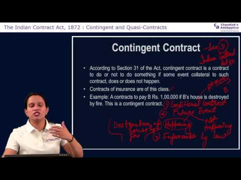 CPT | Mercantile Laws | The Indian Contract Act, 1872 | Contingent and Quasi-Contracts | CA Learning