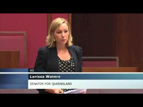 Larissa Waters delivers compelling speech against Abbot Point coal port