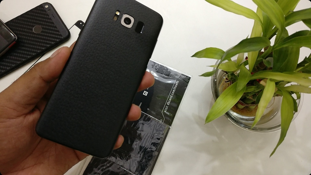 newest 21f9e 56cb2 DBrand Leather Skin Review (Demo on Galaxy S8)