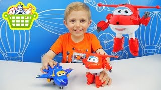 Супер Крылья и Трансформер Джет - Super Wings Transformer Toy Hogi (Jett)