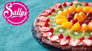 Nutella Pizza Rezept / Frucht-Pizza / Obst-Pizza / Dessert