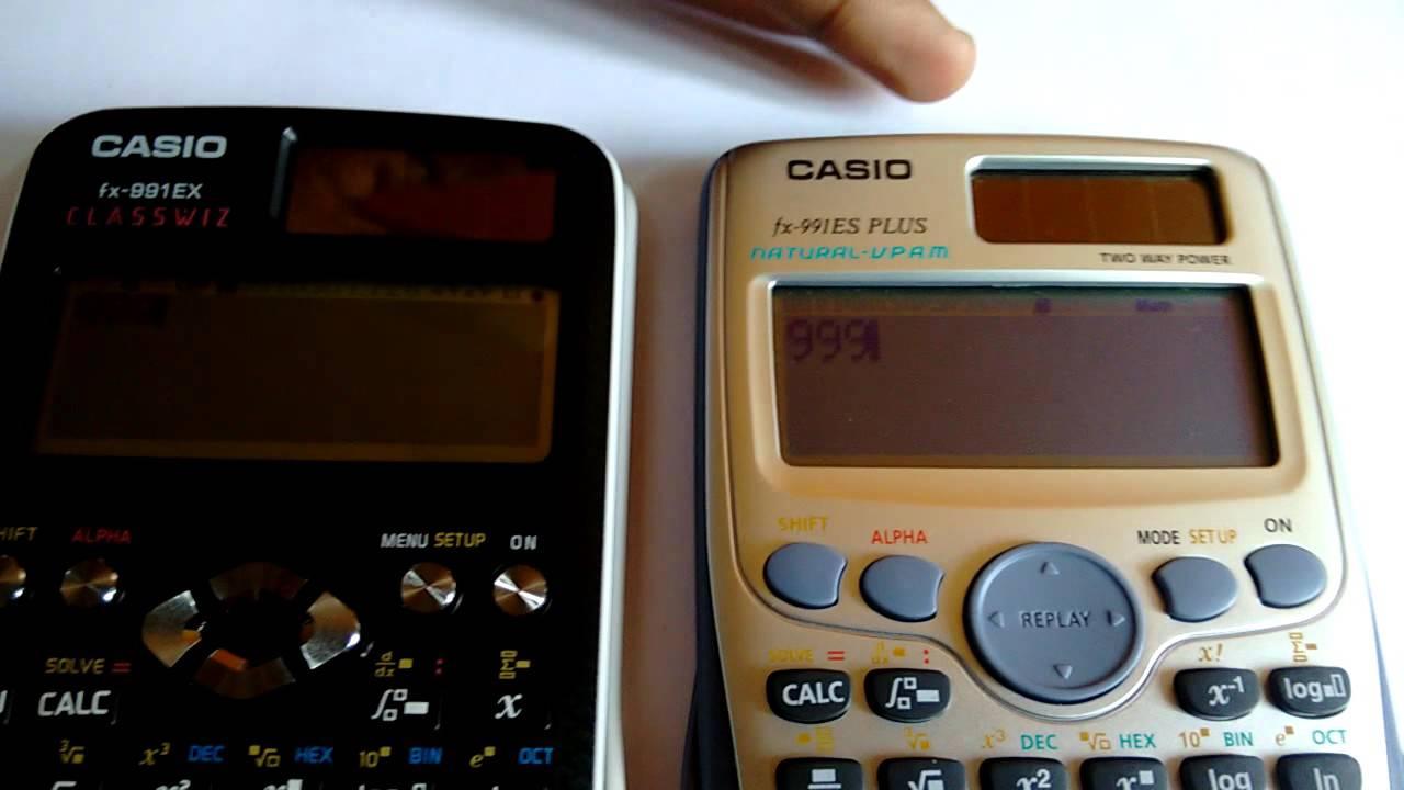 eed41630cc6a CASIO FX991EX VS CASIO FX991ES PLUS - YouTube