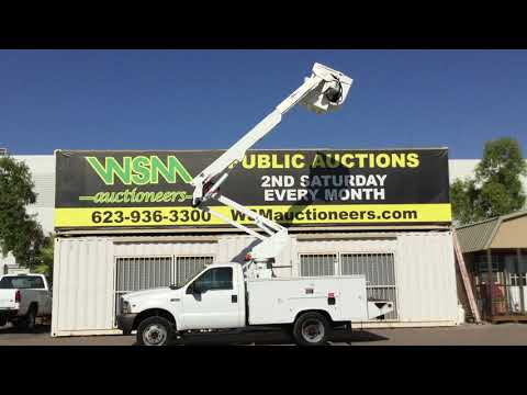 2004 Ford F-550 Bucket Truck For Auction September 14th 2019