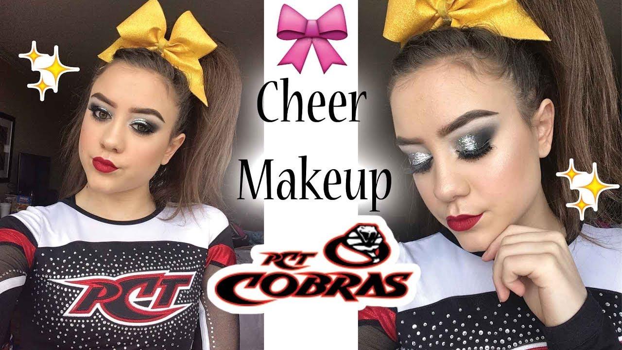 Cheer makeup tutorial pct cobras youtube cheer makeup tutorial pct cobras baditri Image collections