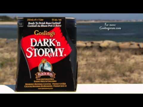 """Goslings Black Seal Rum - Dark 'n Stormy"""" Cans"""