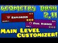 Geometry Dash Main Level Customizer! [2.113]