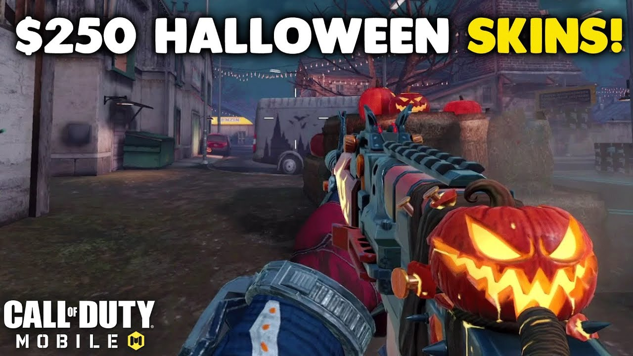 NUKING WITH ALL THE NEW HALLOWEEN SKINS in Call of Duty Mobile! (Spending $250 of COD Points)