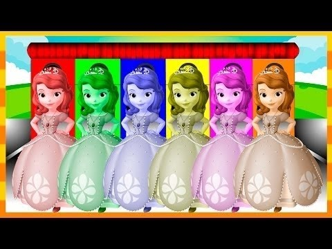 Sofia The First Colors for Children to Learn with Color Sofia,Mcqueen,Paw Patrol - Colors for Kids