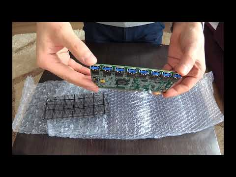 (ENGLISH)  - PCI express card 16x - 1 to 8 PCI express Unboxing