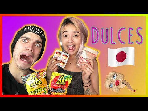 TRYING JAPANESE CANDY WITH MY HUSBAND!   LAURA SANCHEZ