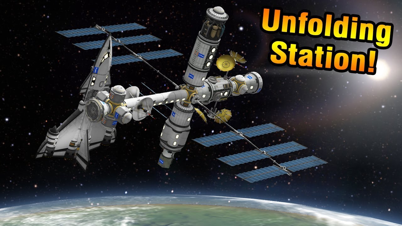 KSP: UNFOLDING Robotic SPACE STATION! - YouTube