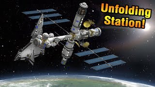 KSP: UNFOLDING Robotic SPACE STATION!