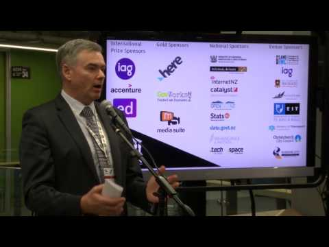 Scott Simpson, NZ Minister of Statistics on Hackathons@GovHackNZ 2017