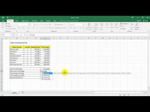 Fungsi Statistik dalam Microsoft Excel