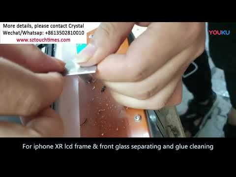 Tricks and tips For iPhone Xr lcd frame, front glass separating and glue cleaning