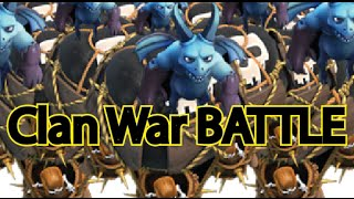 Full Level 6 Balloons + Minions attack (TH lvl9 Clan War) - [Clash of Clans]