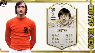 FIFA 21 BABY ICON CRUYFF REVIEW - 89 BASE ICON CRUYFF PLAYER REVIEW - FIFA 21 ULTIMATE TEAM